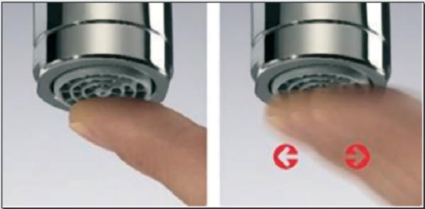 perlator baterii łazienkowej