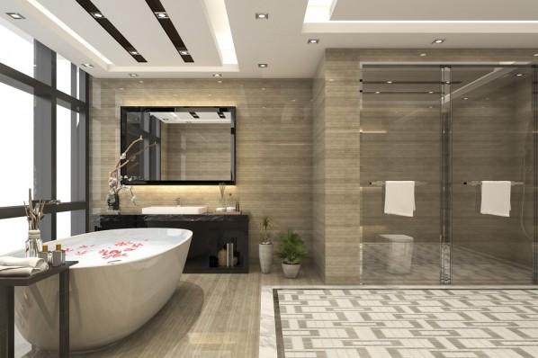 obszerny prysznic w lazience