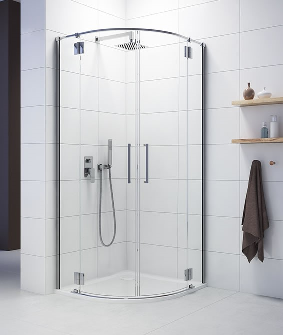 półokrągła kabina prysznicowa