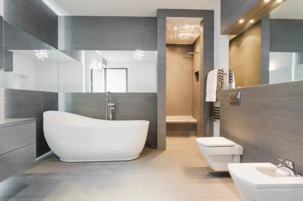 stelaż podtynkowy w nowoczesnej łazience