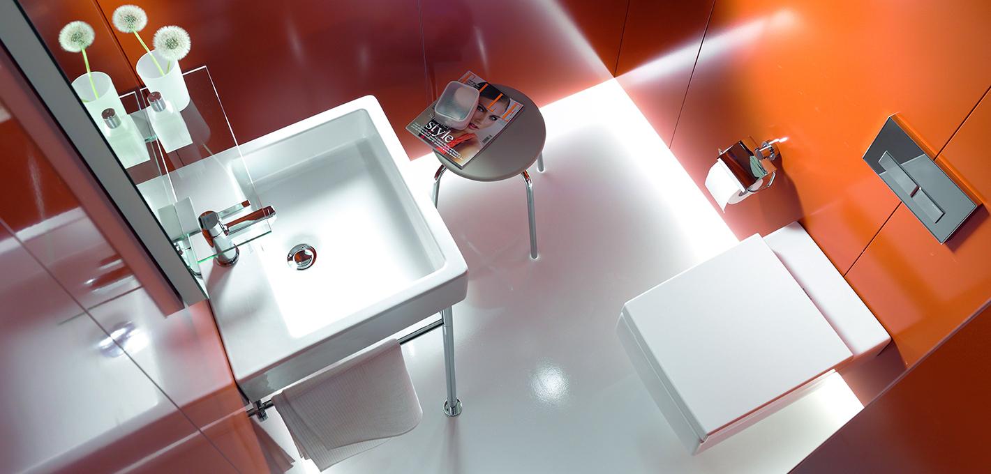 Aranżacja łazienki - łazienka dla gości   Elements Polska